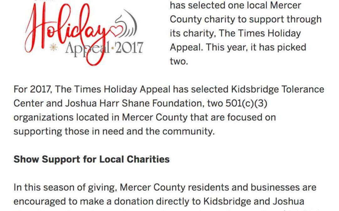 Joshua Harr Shane Holiday Appeal
